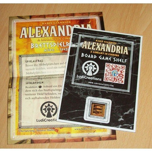 Alexandria: Board Game Shelf Tessera Promo  (Lingua: Inglese, Tedesco - Stato: Nuovo)