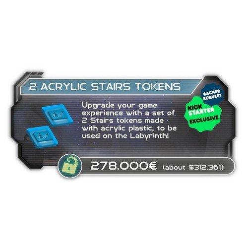 Alone: Promo Kickstarter Acrylic Tokens Pack  (Stato: Nuovo)