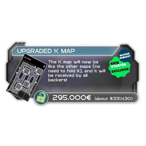 Alone: Promo Kickstarter K-Map Stretch Goal  (Stato: Nuovo)