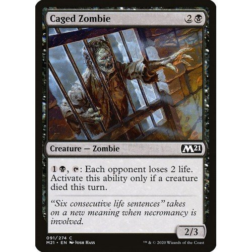 Caged Zombie  (Language: English - Conditions: Near Mint)