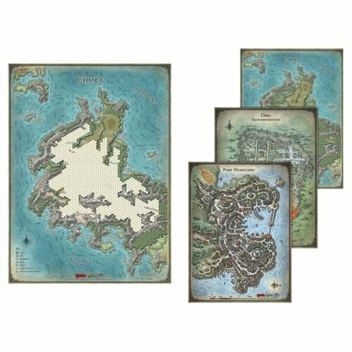 D&D - Game Mat, Tomb of Annihilation Map Set  (Lingua: Inglese - Stato: Nuovo)