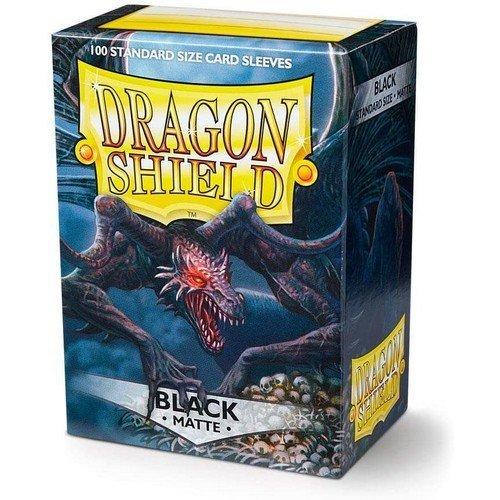 Dragon Shield Standard Sleeves - Matte Black (100 Sleeves)  (Stato: Nuovo)
