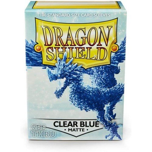 Dragon Shield Standard Sleeves - Matte Clear Blue (100 Sleeves)  (Stato: Nuovo)