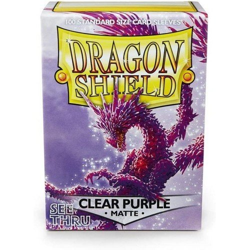 Dragon Shield Standard Sleeves - Matte Clear Purple (100 Sleeves)  (Stato: Nuovo)