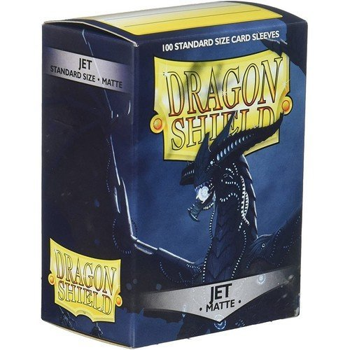 Dragon Shield Standard Sleeves - Matte Jet (100 Sleeves)  (Stato: Nuovo)