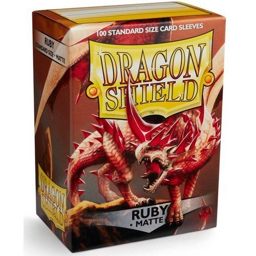 Dragon Shield Standard Sleeves - Matte Ruby (100 Sleeves)  (Stato: Nuovo)