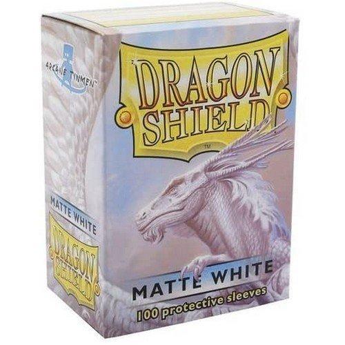 Dragon Shield Standard Sleeves - Matte White (100 Sleeves)  (Stato: Nuovo)