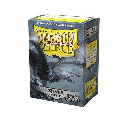 Dragon Shield Standard Sleeves - Non Glare Silver Matte (100 Sleeves)  (Stato: Nuovo)