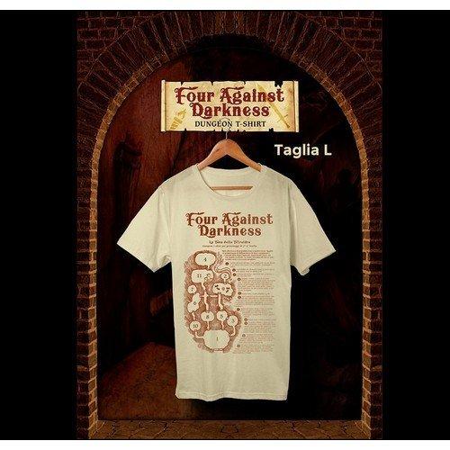 Four Against Darkness: Promo T-Shirt  (Lingua: Italiano - Stato: Nuovo)