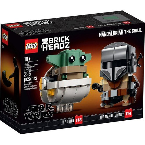 Lego Brick Headz 75317: Il Mandaloriano e il Bambino  (Lingua: Multilingua - Stato: Nuovo)