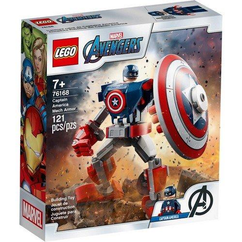 Lego Marvel 76168: Armatura Mech di Capitan America  (Lingua: Multilingua - Stato: Nuovo)