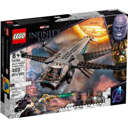 Lego Marvel 76186: Il Dragone Volante di Black Panther  (Lingua: Multilingua - Stato: Nuovo)