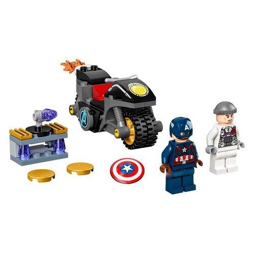 Lego Marvel 76189: Scontro tra Captain America e Hydra  (Lingua: Multilingua - Stato: Nuovo)