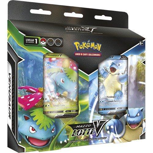 Pokemon Mazzo Lotte-V Venusaur-V e Blastoise-V  (Lingua: Italiano - Stato: Nuovo)