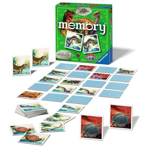 Memory Dinosauri  (Lingua: Italiano, Inglese, Francese, Tedesco, Olandese, Spagnolo - Stato: Nuovo)