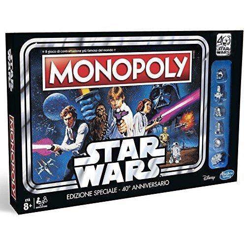 Monopoly: Star Wars Edizione Speciale 40° Anniversario  (Lingua: Italiano - Stato: Nuovo con Scatola Danneggiata)