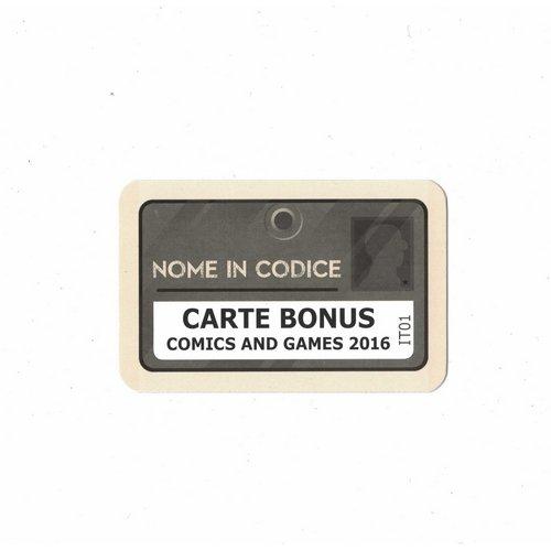 Nome in Codice, Carte Bonus Comics and Games 2016  (Lingua: Italiano - Stato: Nuovo)