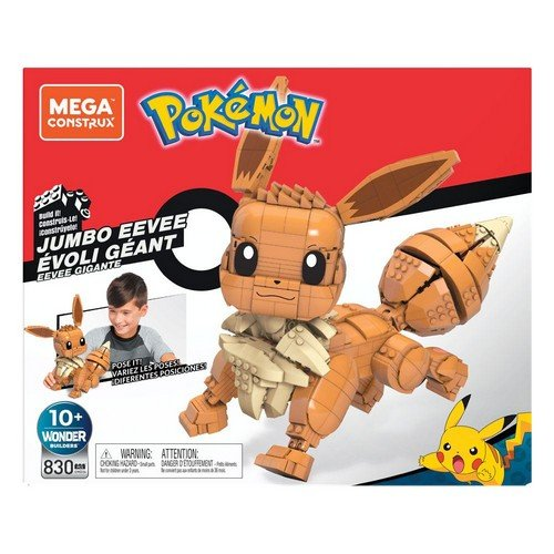 Pokémon Mega Construx Wonder Builders Construction Set Jumbo Eevee 29 cm  (Stato: Nuovo)