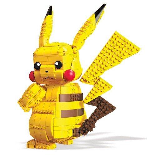 Pokémon Mega Construx Wonder Builders Construction Set Jumbo Pikachu 33 cm  (Stato: Nuovo)