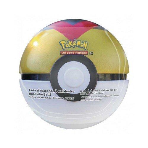 Pokemon Tin Poke Ball 2021 Gialla  (Lingua: Italiano - Stato: Nuovo)