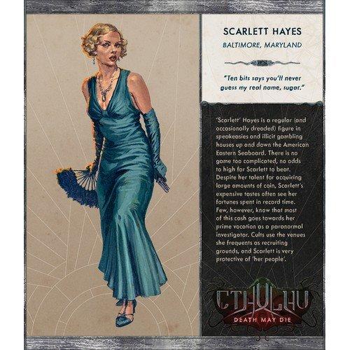 PROMO Cthulhu, Death May Die: Scarlett, KICKSTARTER Exclusive  (Lingua: Inglese - Stato: Nuovo)