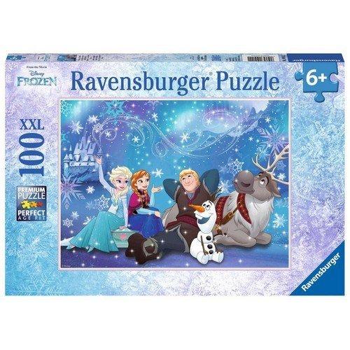 Puzzle 100 XXL: Disney Frozen, L'Incanto del Ghiaccio  (Lingua: Multilingua - Stato: Nuovo)