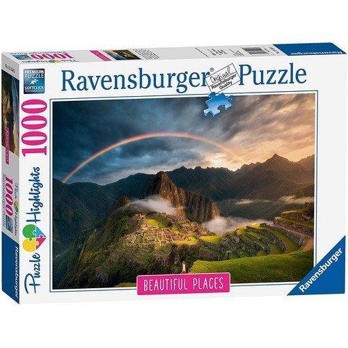 Puzzle 1000: Arcobaleno su Machu Picchu, Perù  (Lingua: Multilingua - Stato: Nuovo)