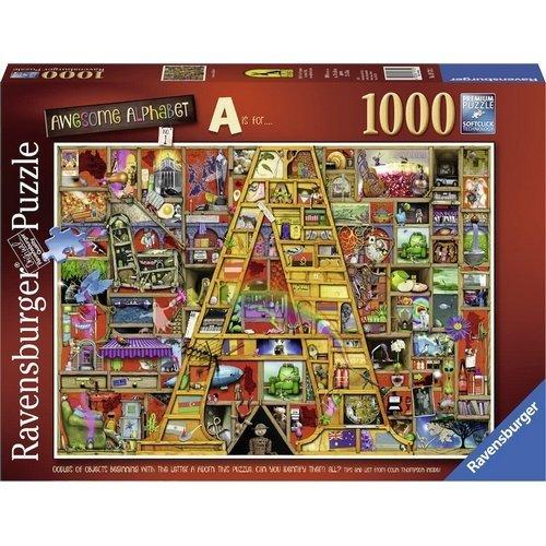 Puzzle 1000: Awesome Alphabet A  (Lingua: Multilingua - Stato: Nuovo)