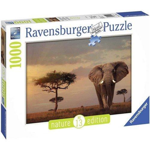 Puzzle 1000: Elefante del Masai Mara  (Lingua: Multilingua - Stato: Nuovo)