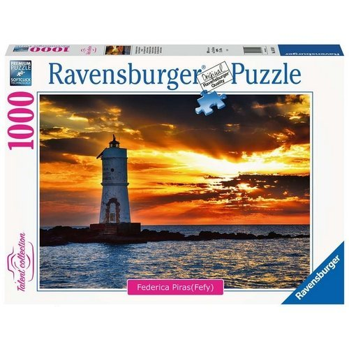 Puzzle 1000 Talent Collection: Faro di Mangiabarche Isola di Sant' Antioco, Sardegna  (Lingua: Multilingua - Stato: Nuovo)