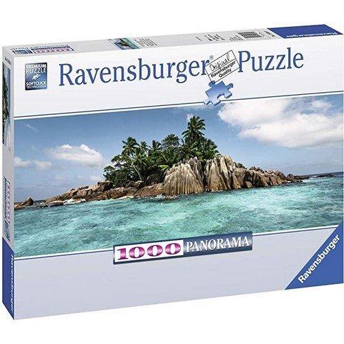 Puzzle 1000 Panorama: Pronto per l'Isola Île St. Pierre  (Lingua: Multilingua - Stato: Nuovo)