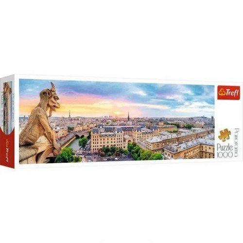 Puzzle 1000 Panorama: Vista da Notre-Dame de Paris  (Lingua: Multilingua - Stato: Nuovo)