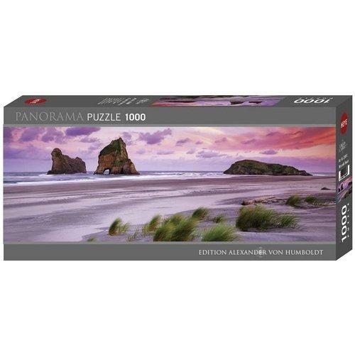 Puzzle 1000 Panorama: Wharariki Beach  (Stato: Nuovo)