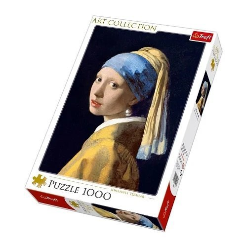 Puzzle 1000: Ragazza con l'Orecchino di Perla, Vermeer  (Lingua: Multilingua - Stato: Nuovo)