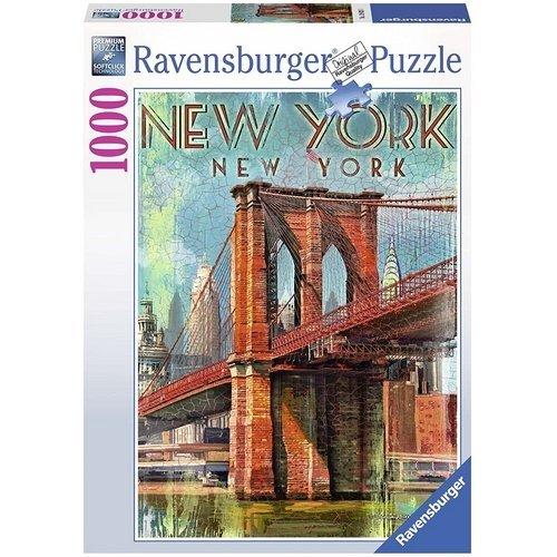 Puzzle 1000: Retro New York  (Lingua: Multilingua - Stato: Nuovo)