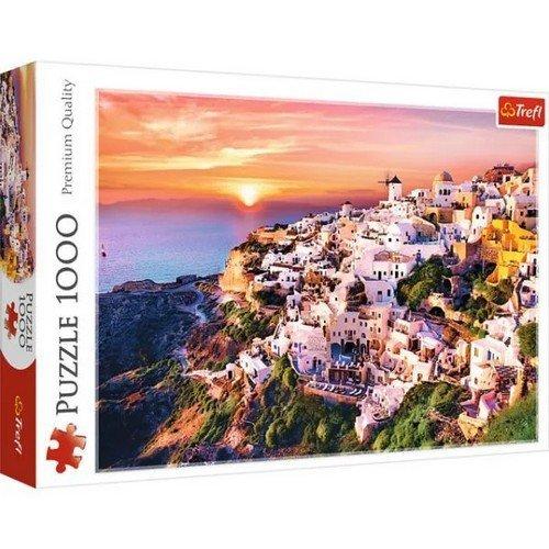 Puzzle 1000: Tramonto su Santorini  (Lingua: Multilingua - Stato: Nuovo)