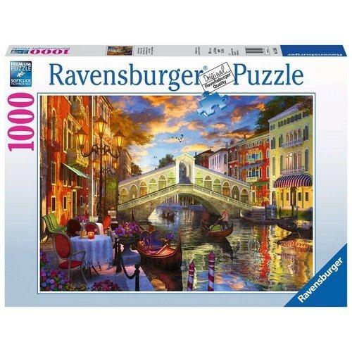 Puzzle 1000: Tramonto sul Ponte di Rialto  (Lingua: Multilingua - Stato: Nuovo)