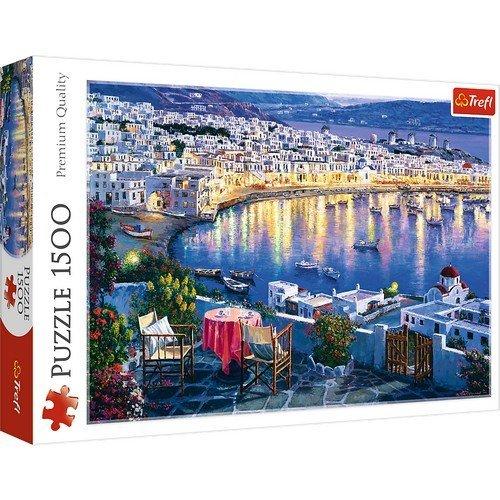 Puzzle 1500: Mykonos al Tramonto  (Lingua: Multilingua - Stato: Nuovo)