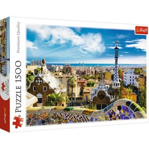 Puzzle 1500: Parco Güell, Barcellona  (Lingua: Multilingua - Stato: Nuovo)