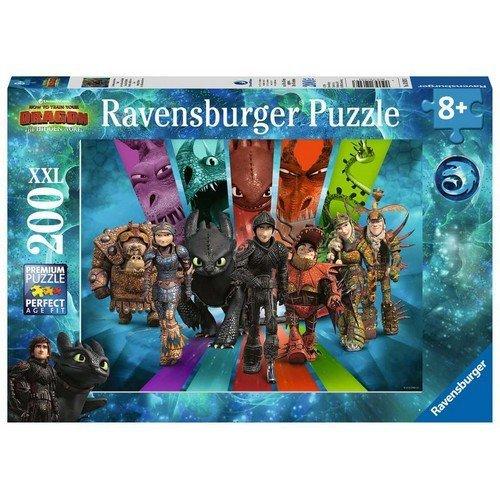 Puzzle 200 XXL: Dragon Trainer, I Cavalieri di Berk  (Lingua: Multilingua - Stato: Nuovo)