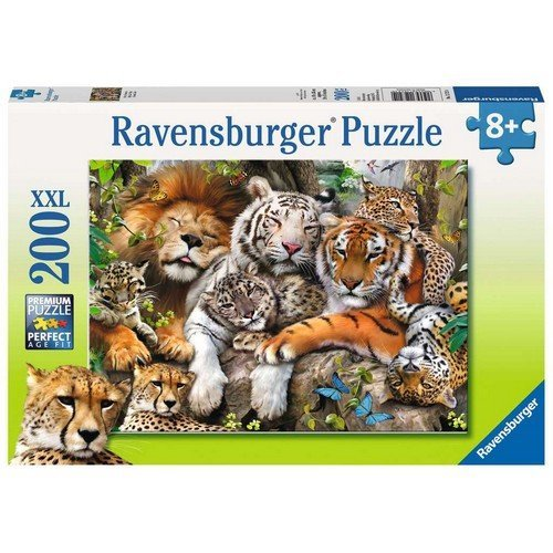 Puzzle 200 XXL: La Siesta dei Felini  (Lingua: Multilingua - Stato: Nuovo)