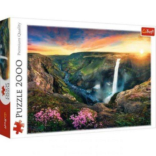 Puzzle 2000: Cascate Háifoss, Islanda  (Lingua: Multilingua - Stato: Nuovo)