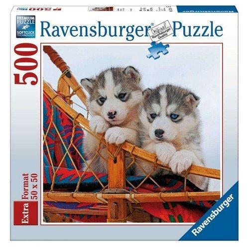 Puzzle 500: Cuccioli di Husky  (Lingua: Multilingua - Stato: Nuovo)