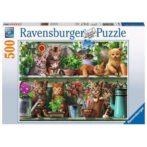 Puzzle 500: Gatto sullo Scaffale  (Lingua: Multilingua - Stato: Nuovo)