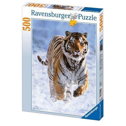 Puzzle 500: Tigre nella Neve  (Lingua: Multilingua - Stato: Nuovo)