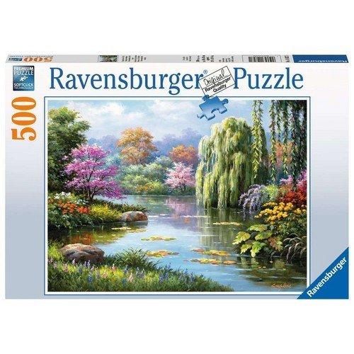 Puzzle 500: Vista Romantica dello Stagno  (Lingua: Multilingua - Stato: Nuovo)