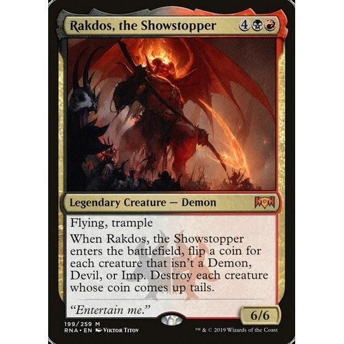 RAKDOS THE SHOWSTOPPER Magic RNA Mint IL COLPO DI SCENA RAKDOS