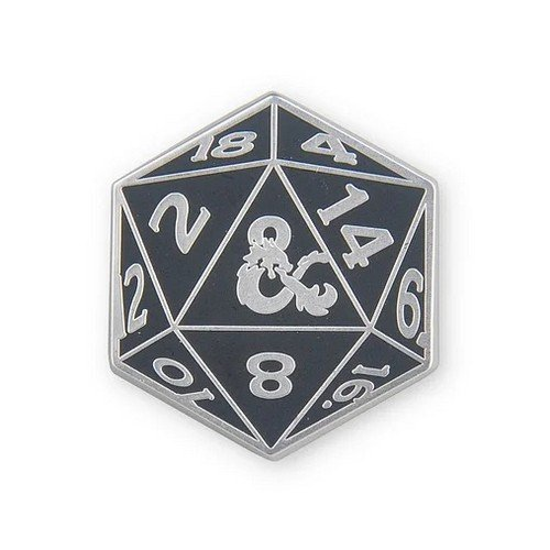 Spilla in Metallo Dungeons & Dragons D20  (Stato: Nuovo)