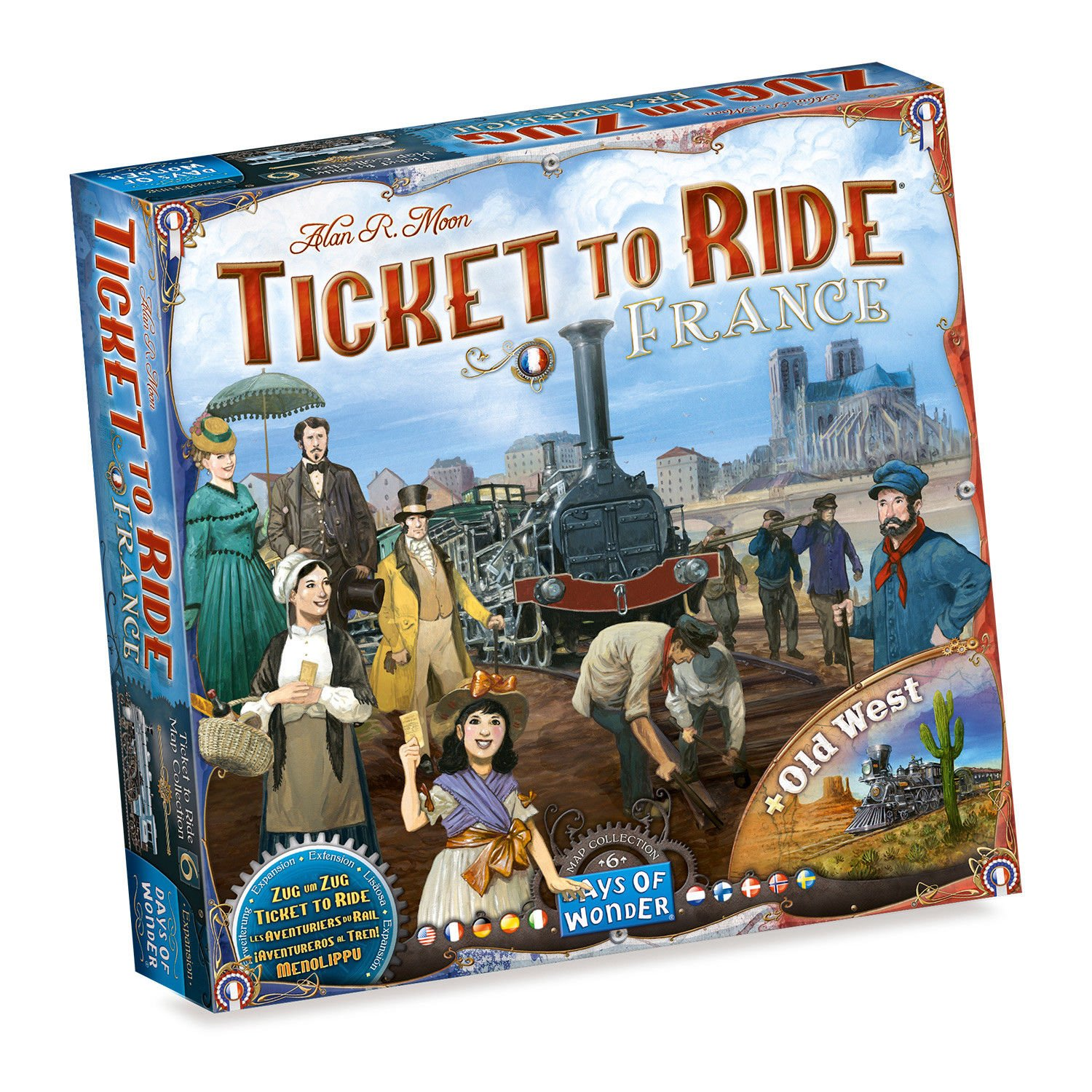 Ticket to Ride Map Collection 6, France + Old West  (Lingua: Multilingua - Stato: Nuovo)