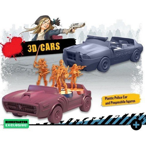 Zombicide 2nd Edition, 3D Car Set  (Conditions: New)